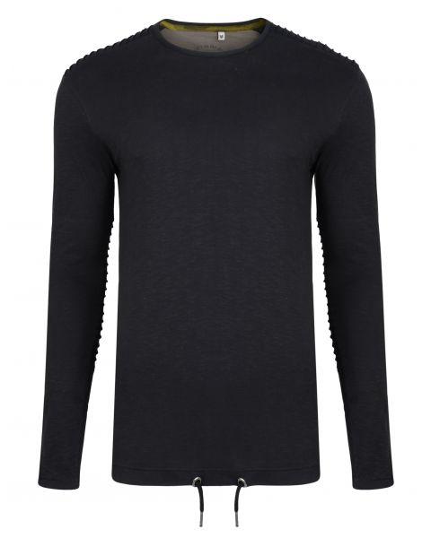 Ringspun Twiss Plain T-Shirt Long Sleeve Black | Jean Scene