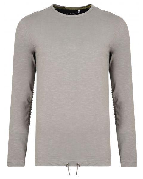 Ringspun Twiss Plain T-Shirt Long Sleeve Grey | Jean Scene