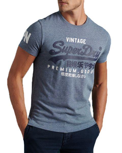 Superdry Vintage Logo T-Shirt Tois Blue