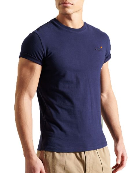 Superdry Vintage Embroided Crew Neck T-Shirt Rich Navy