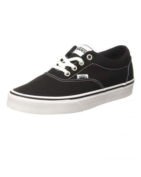 Vans Women's Doheny Canvas Shoes Black White | Jean Scene