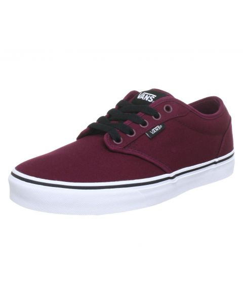 Vans Mens Atwood Canvas Shoes Trainers Oxblood | Jean Scene