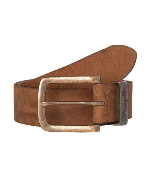 Wrangler Basic Logo Leather Belt Cognac | Jean Scene