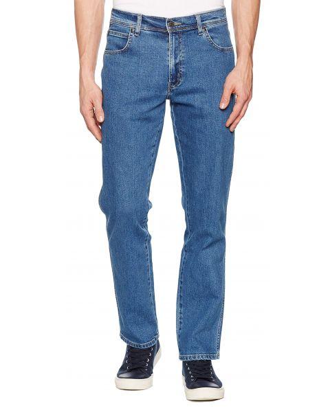 Wrangler Basic Denim Jeans Dark Blue Stonewash   Jean Scene