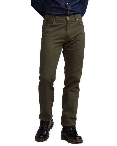 Wrangler Texas Stretch Soft Fabric Moss Green | Jean Scene