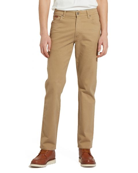 Wrangler Texas Stretch Soft Fabric Golden Sand   Jean Scene