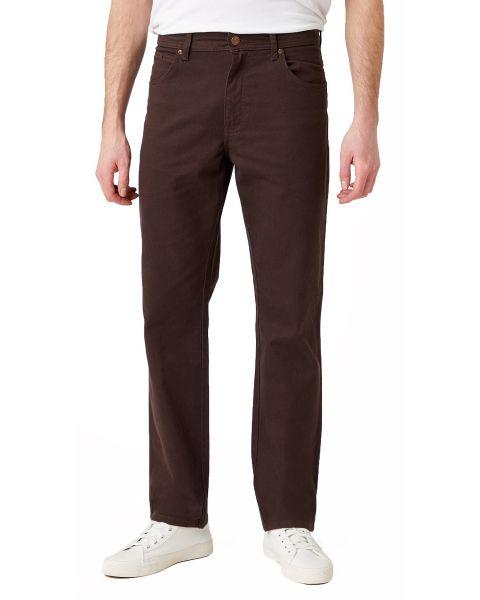 Wrangler Texas Soft Fabric Stretch Jeans Chocolate Brown
