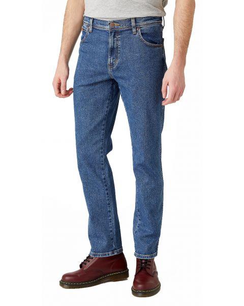 Wrangler Texas Slim Denim Jeans Stonewash | Jean Scene