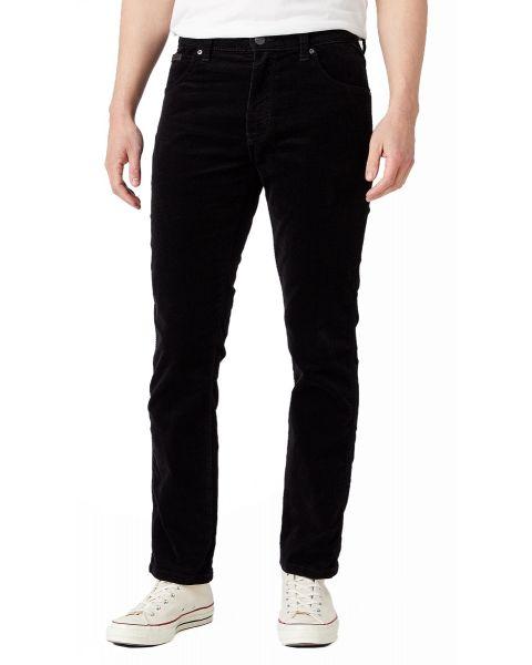 Wrangler Texas Slim Stretch Corduroy Jeans Black | Jean Scene