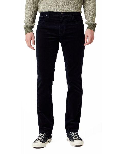 Wrangler Texas Slim Stretch Corduroy Jeans Navy | Jean Scene