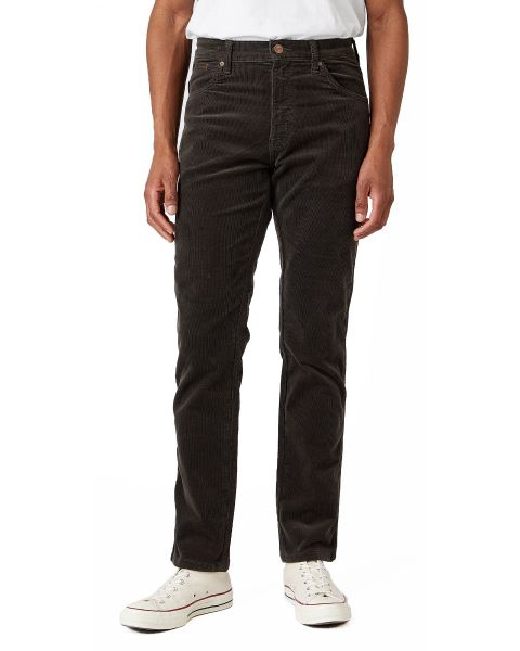 Wrangler Texas Slim Stretch Corduroy Jeans Moss Green | Jean Scene