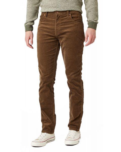 Wrangler Texas Slim Stretch Corduroy Jeans Teak | Jean Scene