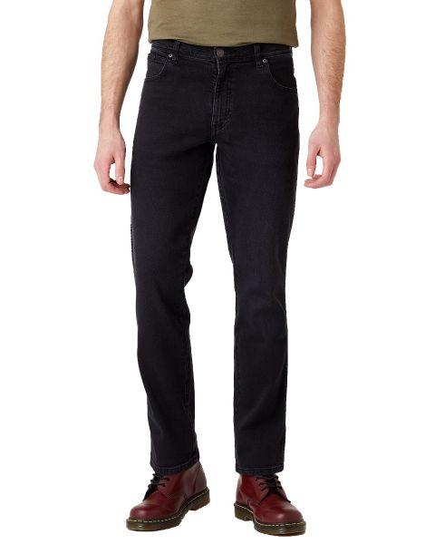 Wrangler Texas Slim Stretch Denim Jeans Black Crow   Jean Scene