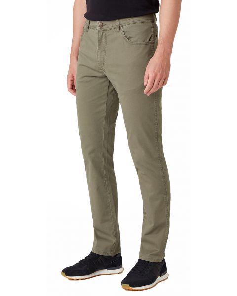 Wrangler Texas Slim W7 Soft Fabric Jeans Dusty Olive | Jean Scene