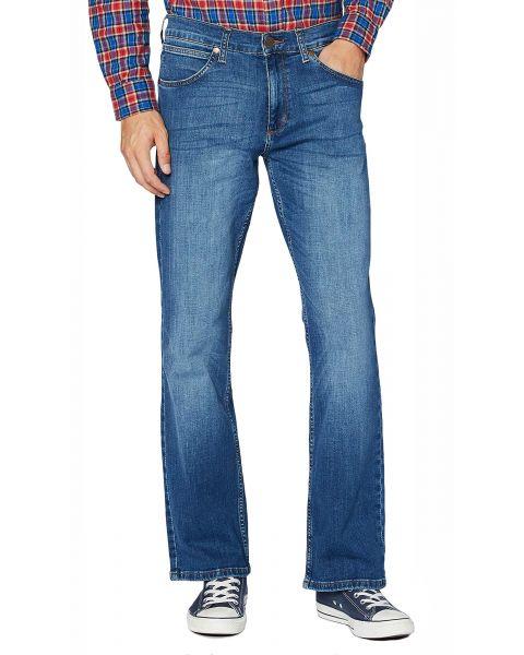 Wrangler Jacksville Bootcut Denim Jeans High Blue   Jean Scene