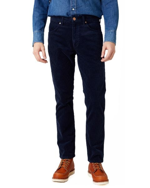 Wrangler Greensboro Stretch Corduroy Jeans Prussian Blue | Jean Scene