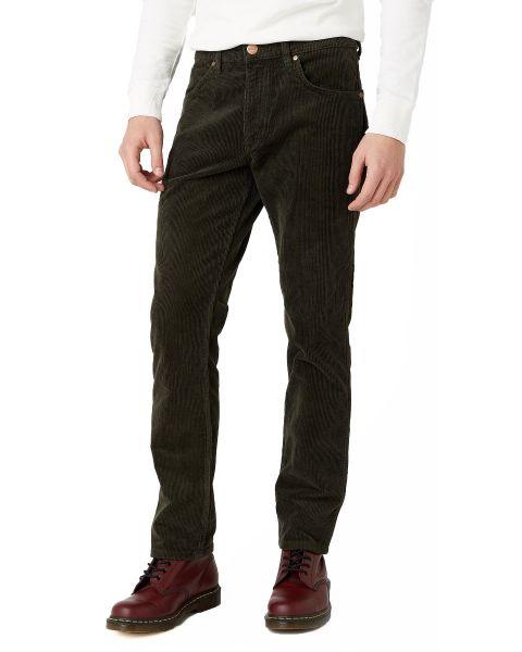 Wrangler Greensboro Corduroy Stretch Jeans Militare Green