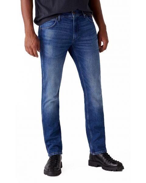 Wrangler Greensboro Modern Straight Denim Jeans Hard Edge | Jean Scene
