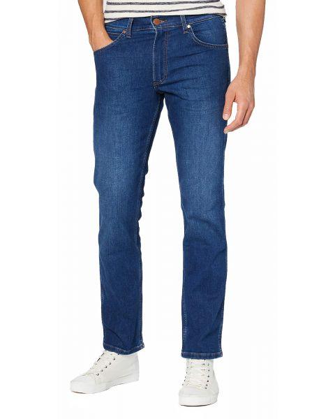 Wrangler Greensboro Modern Straight Denim Jeans Cold Burn | Jean Scene