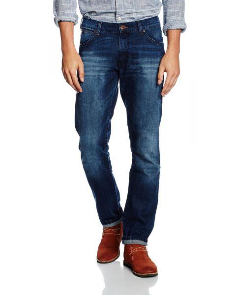 Wrangler Larston Low Slim Denim Jeans Blaze | Men's Wrangler Jeans | Jean Scene