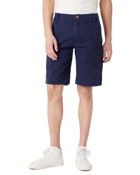 Wrangler Casey Cargo Cotton Shorts Lakeport Blue | Jean Scene