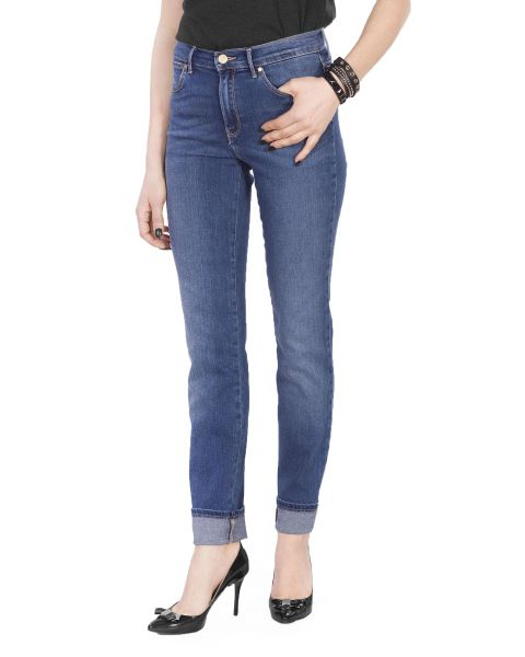Wrangler High Slim Women's Slim Stretch Jeans Authentic Blue | Jean Scene