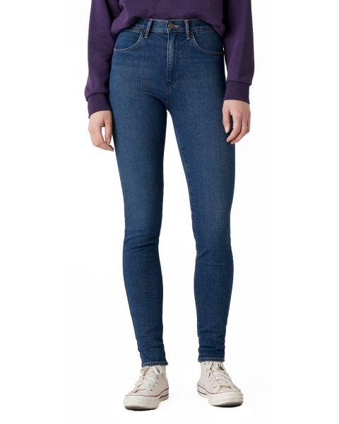 Wrangler High Rise Women's Skinny Stretch Jeans Vintage Ink | Jean Scene