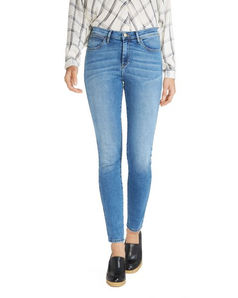 Wrangler High Skinny Women's Slim Stretch Jeans Best Blue | Jean Scene