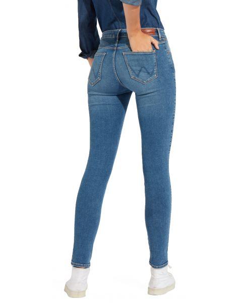Wrangler Women's Skinny Stretch Jeans Perfect Blue | Jean Scene