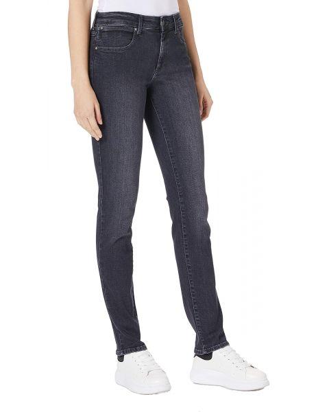 Wrangler Slim Women's Slim Stretch Jeans Black Angle | Jean Scene