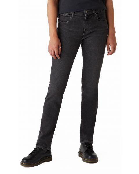 Wrangler Slim Women's Slim Stretch Jeans Black Beauty | Jean Scene