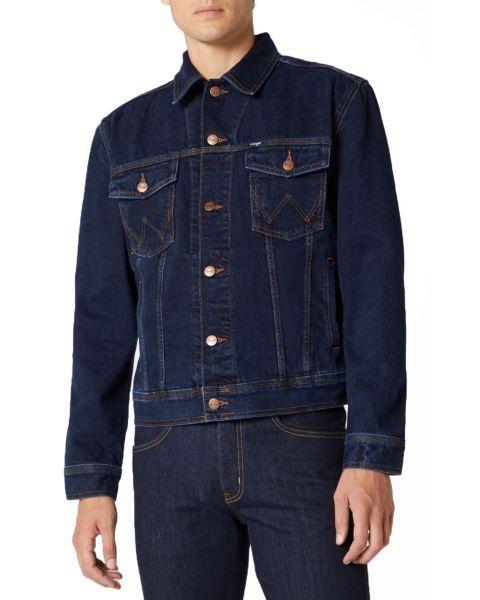Wrangler Western Denim Jacket Blue Black | Jean Scene