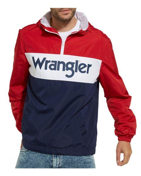 Wrangler Overhead Anorak Jacket Scarlet Red   Jean Scene
