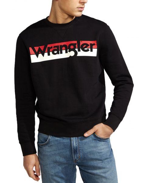 Wrangler Crew Neck Sweatshirt Black | Jean Scene