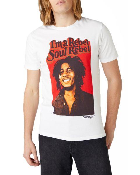 Wrangler Bob Marley Soul Rebel T-Shirt White