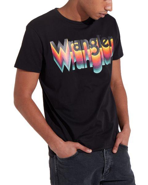 Wrangler Festival Crew Neck Logo T-shirt Black   Jean Scene
