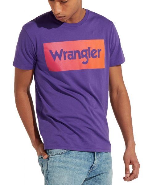 Wrangler Festival Crew Neck Logo T-shirt Purple   Jean Scene