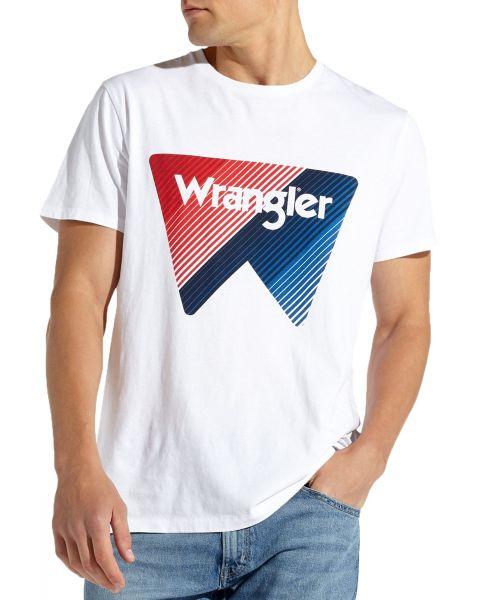 Wrangler Festival Crew Neck Box Logo T-shirt White   Jean Scene