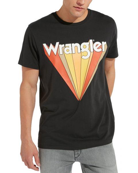 Wrangler Festival Crew Neck Graphic Logo T-shirt Faded Black   Jean Scene