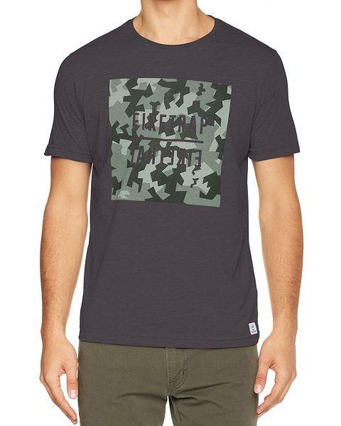 Firetrap Yakona Crew Neck Cotton Printed T-shirt Raven | Jean Scene